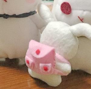 ピンクのリュックを背負った葵ちゃん